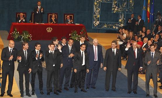 Selección Española de fútbol Premio Príncipe de Asturias de los Deportes 2010
