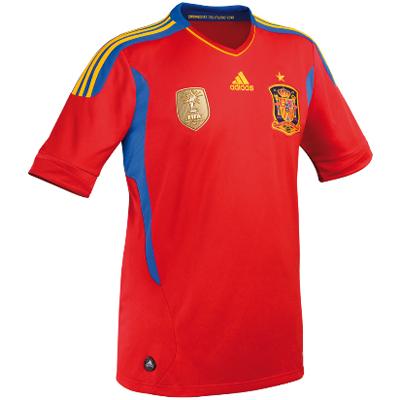 la nueva camiseta oficial de la selección española de fútbol