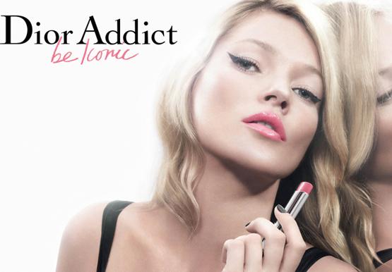 Kate Moss imagen de la barra de labios Dior Addict