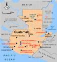 Localização da Guatemala