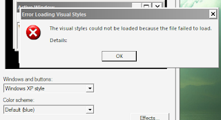 The visual styles could not be loaded because the file failed to load.  Details: