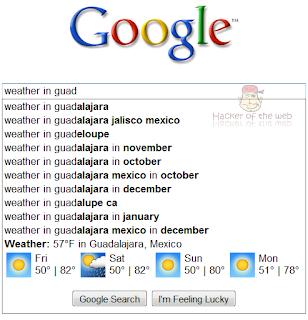 Universal Search en sugerencias de Google