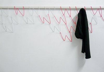 Modular coat hooks by Sarah Krienger