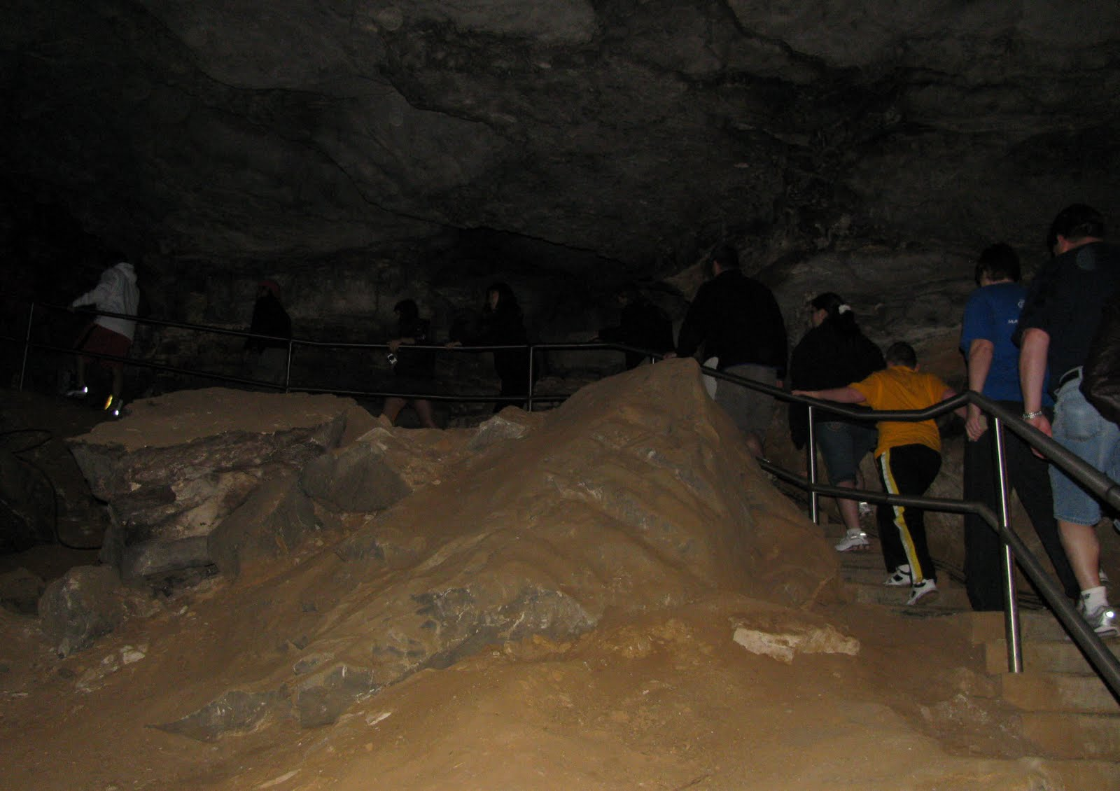 climbing up the steep 138 steps of mammoth dome to get out of the cave was exhausting