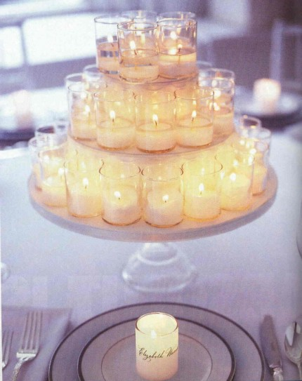 DIY Wedding Candle Centerpieces