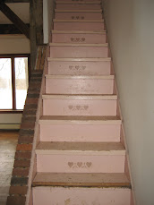 The stairs with original paint