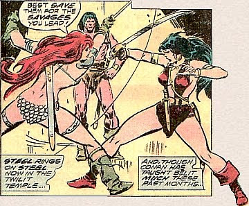 Conan the Barbarian #67, Red Sonja vs Belit