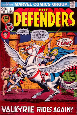 Defenders #4, the Barbara Norris Valkyrie makes her first ever appearance