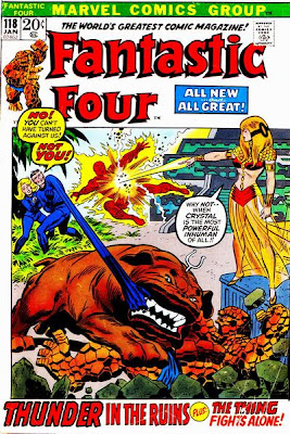 Fantastic Four #118, Crystal, Diablo, Thunder in the Ruins