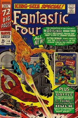 Fantastic Four Annual #4, the Human Torch vs the Original Human Torch