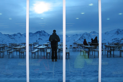 Ischgl Self Portrait - look at the People inside the restaurant...