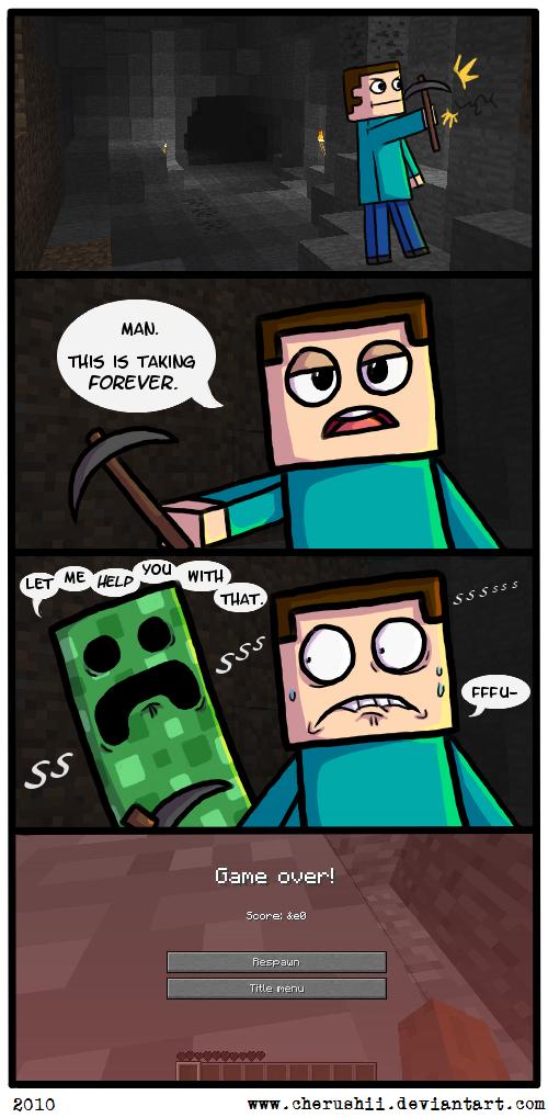 you safe Minecraft-creeper