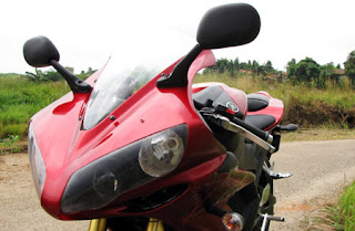 Incredible Drag Race Modif Yamaha Vixion Red Black Sport