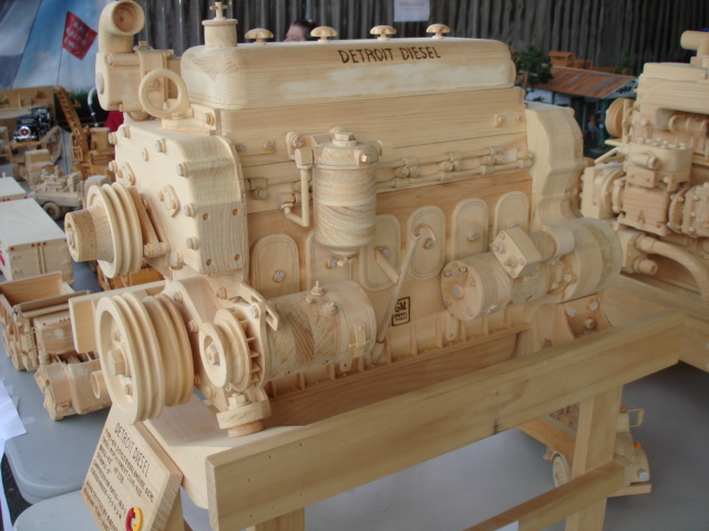 Van wie variety wood engine carvings
