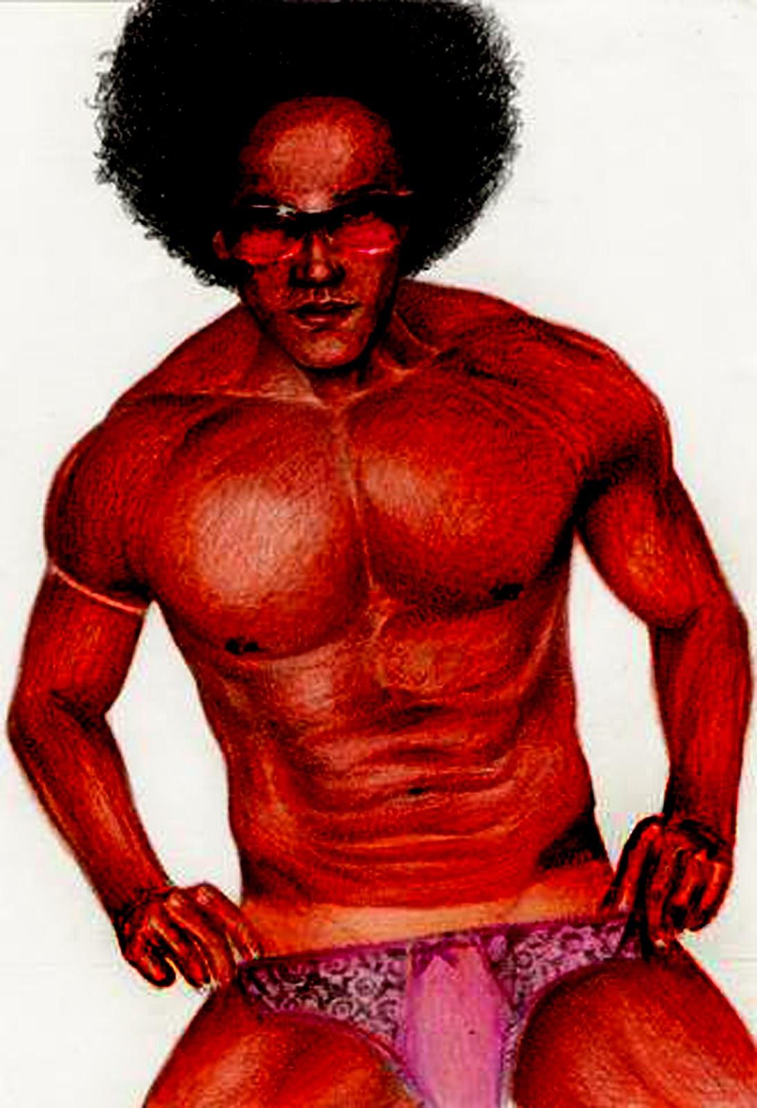 Homem Negro De Calcinha  With Female Underpants