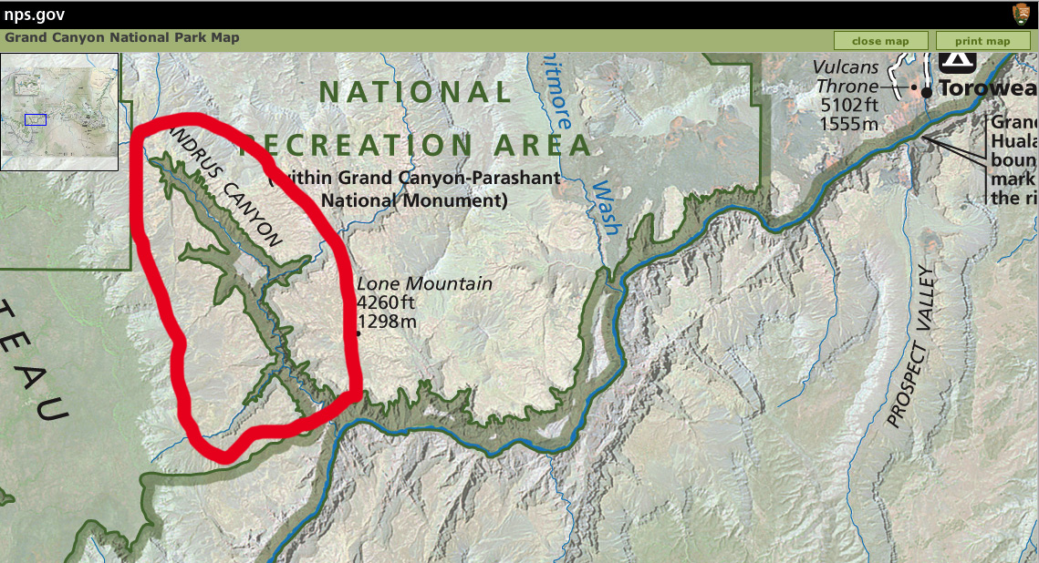 Celebrating The Grand Canyon GCNP Boundary Comparison With NPS - Us canyons boundary map