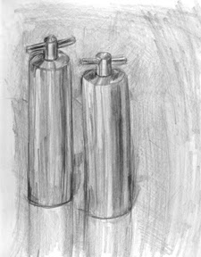 pencil drawing salt and pepper