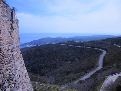 parking san pere de rodes, monastir de san pere de Rodes, monasterio de San pere de rodes, románico catalán, romànic català