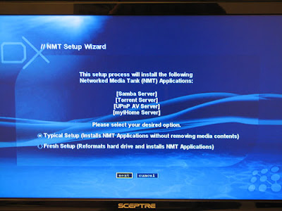 HDX 1000 NMT Player Setup -1