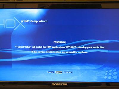 HDX 1000 NMT Player Setup -2
