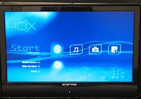 HDX 1000 GUI Root Menu