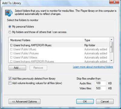 HDX1000 WMP11 Monitor Folders