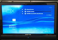 HDX 1000 Media Source Screen