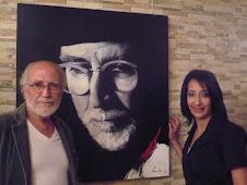 Moi Avec l'artiste peintre Moa bennani