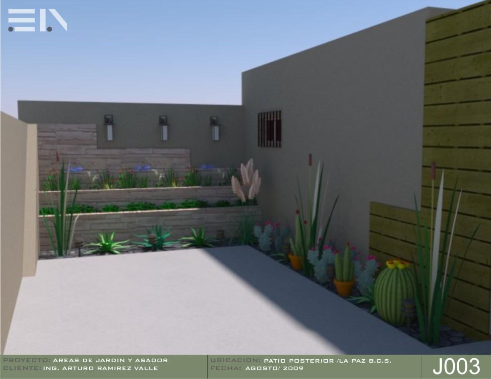 Areas de jardin y asador arq eduardo alvarez for Asador de ladrillo para jardin