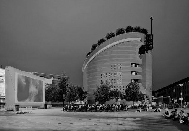 Evry Daily Photo - Cinema en Plein Air - Place des Droits de l homme - Qtpfsgui - HDR software