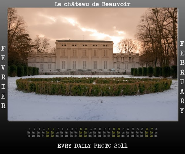 Evry Daily Photo - calendrier Evry 2011 - Calendar Evry 2011 - Fevrier 2011 - Chateau de Beauvoir