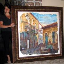 "fresco titled ""Village Street"""