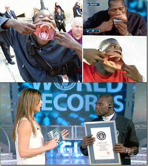 francisco domingos joaquim largest mouth world record Gambar Dan Video Mulut Lelaki Terbesar Dunia
