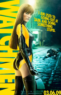 Malin Akerman in spandex with the tag line, I am used to going out at 3 am and doing something stupid