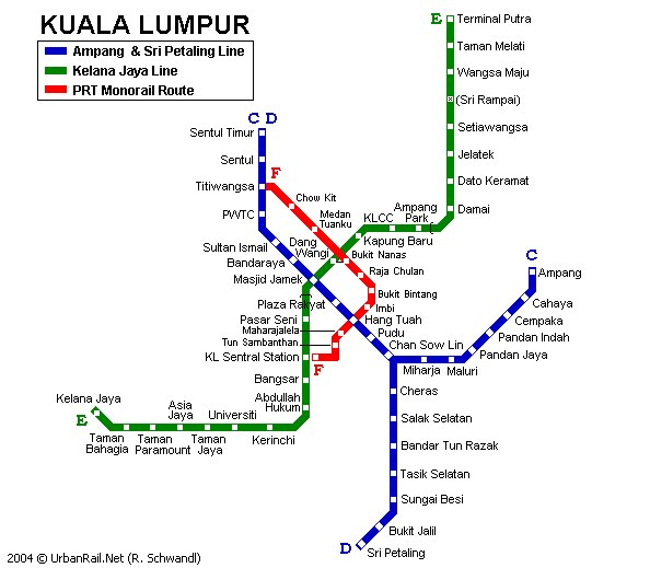 how to go kl tower by lrt