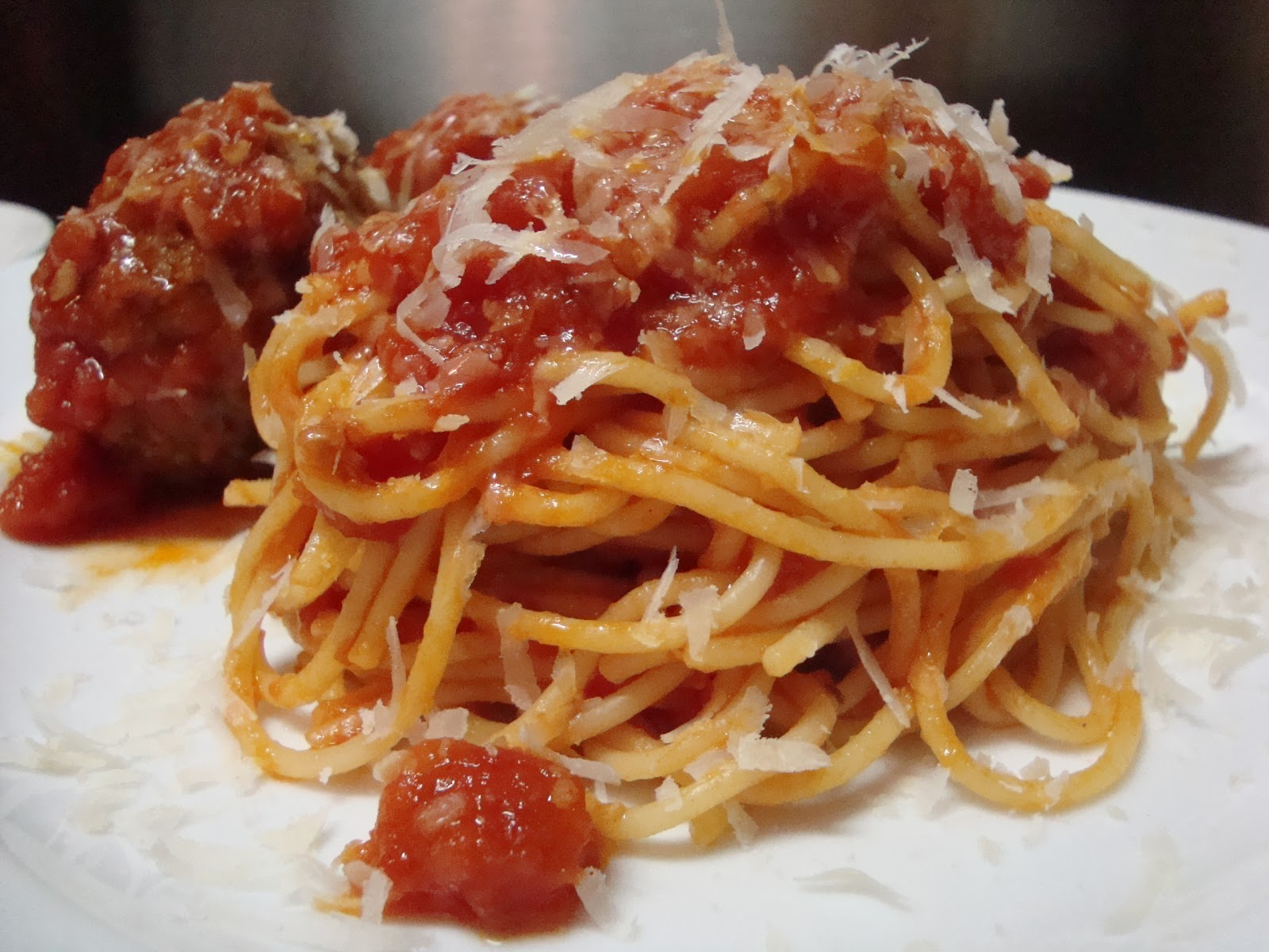 Kitchen Centsability : Spaghetti Marinara with Meatballs
