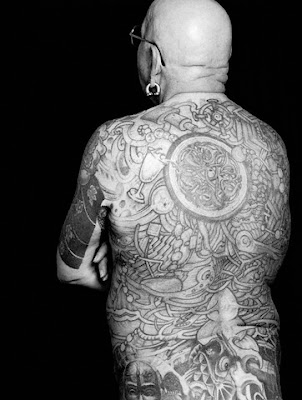 Black White Picture and Full Body Tattoo