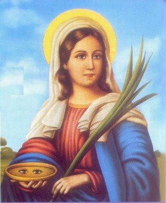 Imagens de santos Santa_luzia