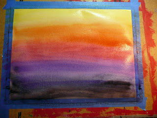 The Order We Used Was Yelloworangeredpurpleblue And Then A Bit Of Black For Darkening Sky