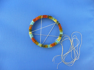 That artist woman how to make a dreamcatcher for How to tie a dreamcatcher web