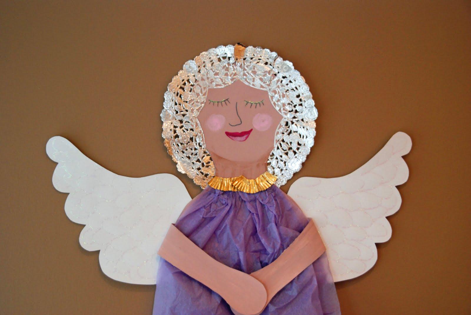 that artist woman tissue paper angels