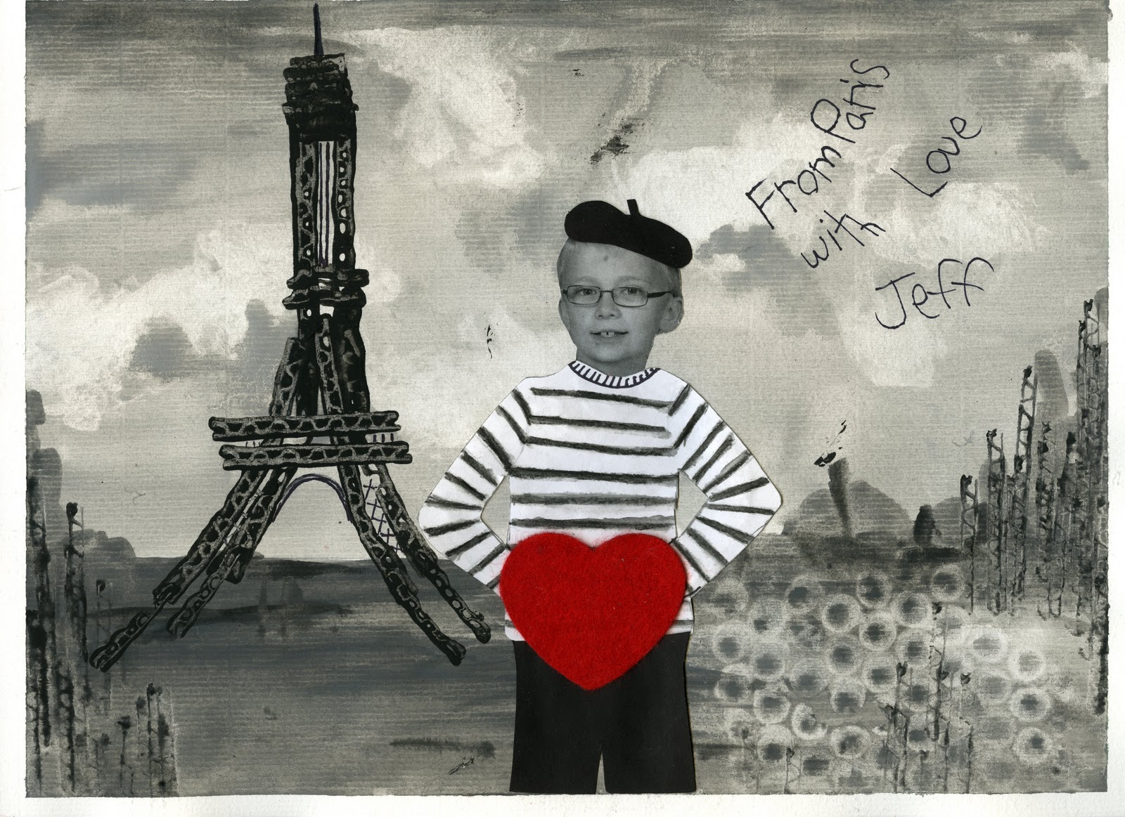 Black And White Postcard From >> That Artist Woman Postcard From Paris Valentine