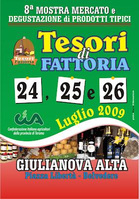 Giulianova. Torna l'8° edizione de Tesori di Fattoria 2009