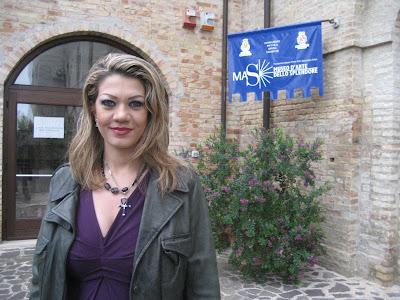 Mirta Maranca, autrice dell'opera pittorica dedicata alla Madonna dello Splendore di Giulianova