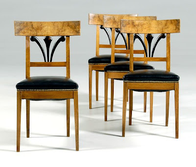 ebonized dining chairs,