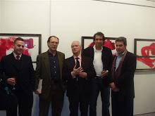 Antonio, Rafael Canogar, Luis Feito, Méndez Lobo y Alberto Cornejo