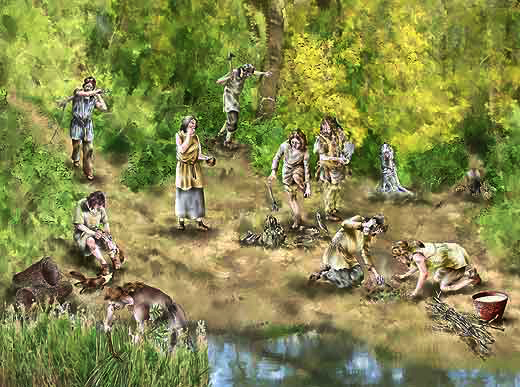 hunter gatherers and settled communities They settled in larger communities together, they produced what  hunter-gatherers they wandered from place to place, hunting animals and gathering.