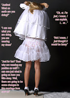 Bride Dress on Cross Dresser Becomes A Feminized Husband