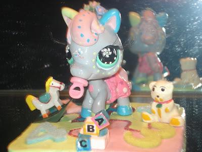 Petshop b b cheval gris clair - Petshop cheval ...