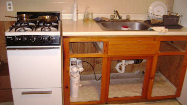 stove, sink